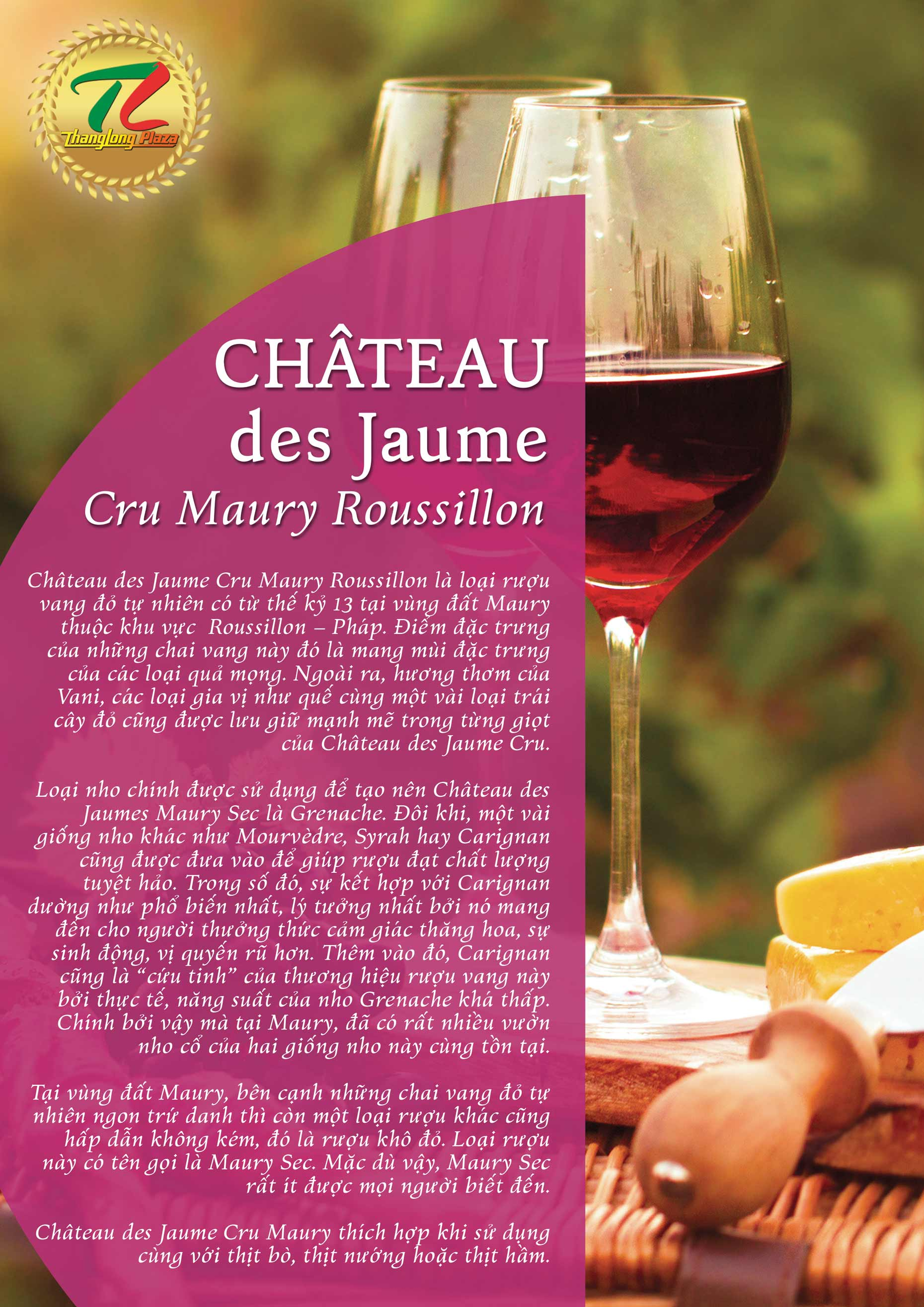 chateau Cru Maury back